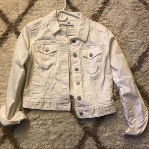 Express Denim White Jacket